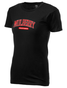 Mulberry Elementary School Mustangs Alternative Women's Basic Crew T-Shirt