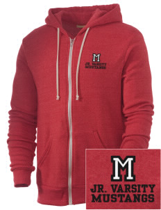 Mulberry Elementary School Mustangs Embroidered Alternative Men's Rocky Zip Hooded Sweatshirt