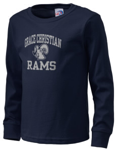 Grace Christian Academy Rams  Kid's Long Sleeve T-Shirt