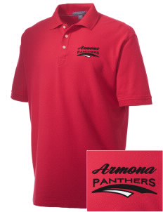 Armona Elementary School Panthers Embroidered Men's Performance Plus Pique Polo