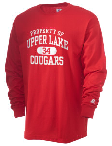 Upper Lake High School Cougars  Russell Men's Long Sleeve T-Shirt