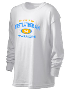 First Lutheran School Warriors Kid's 6.1 oz Long Sleeve Ultra Cotton T-Shirt