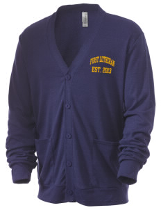 First Lutheran School Warriors Men's 5.6 oz Triblend Cardigan