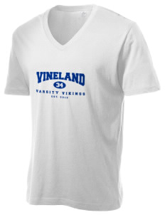 Vineland Elementary School Vikings Alternative Men's 3.7 oz Basic V-Neck T-Shirt