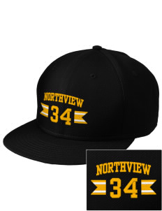 Northview High School Vikings  Embroidered New Era Flat Bill Snapback Cap