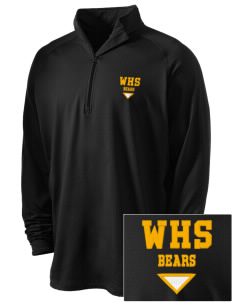 Warren High School Bears Embroidered Men's Stretched Half Zip Pullover