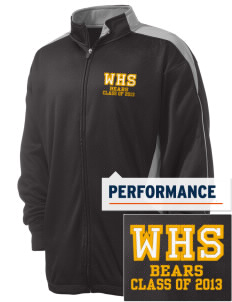 Warren High School Bears Embroidered Russell Men's Fusion Tech Fleece Full Zip Jacket