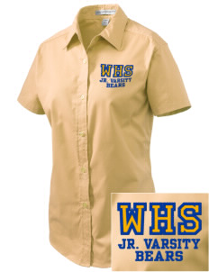 Warren High School Bears Embroidered Women's Easy Care Short Sleeve Shirt