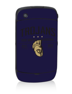 MOUNT UNION AREA jr.sr.HIGHSCHOOL TROJANS Black Berry 8530 Curve Skin