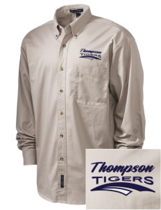Thompson Elementary School Tigers Embroidered Tall Men's Twill Shirt