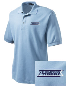Thompson Elementary School Tigers Embroidered Tall Men's Silk Touch Polo