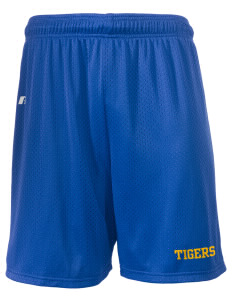"Jefferson Elementary School Tigers  Russell Men's Mesh Shorts, 7"" Inseam"