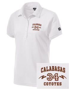 Calabasas High School Coyotes Embroidered OGIO Women's Jewel Polo