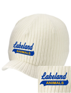 Lakeland Elementary School Animals Embroidered Knit Beanie with Visor