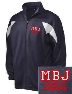 Mildred B Janson Elementary School Jaguars Embroidered Holloway Men's Full-Zip Track Jacket