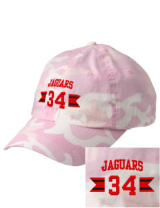 Mildred B Janson Elementary School Jaguars Embroidered Camouflage Cotton Cap