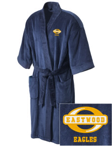 Eastwood Elementary School Eagles Embroidered Terry Velour Robe