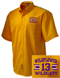Wildflower Elementary School Wildcats Embroidered Men's Easy Care Shirt