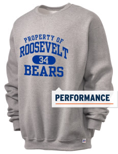 Roosevelt Elementary School Bears  Russell Men's Dri-Power Crewneck Sweatshirt