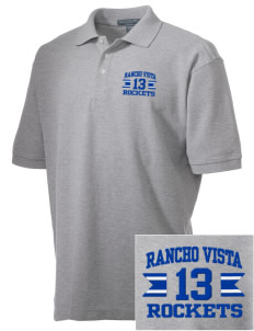 Rancho Vista Elementary School Rockets Embroidered Men's Performance Plus Pique Polo