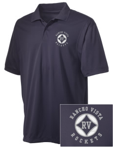 Rancho Vista Elementary School Rockets Embroidered Men's Micro Pique Polo