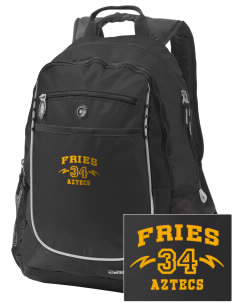 Fries Elementary School Aztecs Embroidered OGIO Carbon Backpack