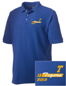 Towne Elementary School Tigers Embroidered Men's Performance Plus Pique Polo