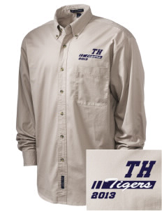 Teresa Hughes Elementary School Tigers Embroidered Tall Men's Twill Shirt