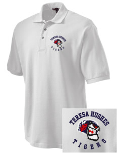 Teresa Hughes Elementary School Tigers Embroidered Tall Men's Pique Polo