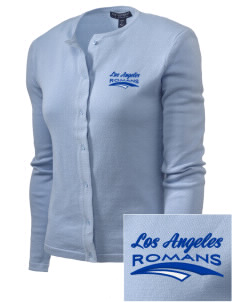 Los Angeles High School Romans Embroidered Women's Cardigan Sweater
