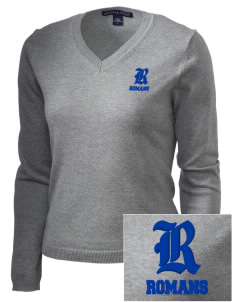 Los Angeles High School Romans Embroidered Women's V-Neck Sweater