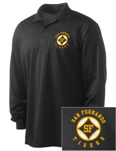 San Fernando High School Tigers Embroidered Men's Long Sleeve Micropique Sport-Wick Sport Shirt