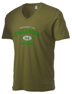 Eagle Rock High School Eagles Alternative Men's 3.7 oz Basic V-Neck T-Shirt