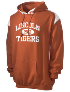 Lincoln High School Tigers Men's Pullover Hooded Sweatshirt with Contrast Color