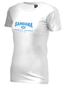 samoana high sharks Alternative Women's Basic Crew T-Shirt