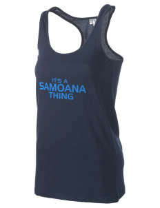 samoana high sharks Women's Racerback Tank