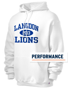 Langdon Elementary School Lions Russell Men's Dri-Power Hooded Sweatshirt