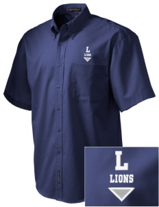 Langdon Elementary School Lions Embroidered Men's Easy Care Shirt