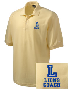 Lemay Elementary School Lions Embroidered Nike Men's Pique Knit Golf Polo