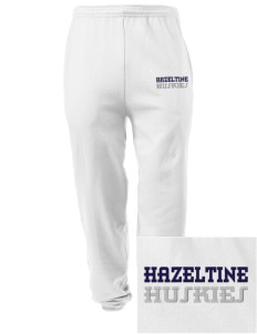 Hazeltine Elementary School Huskies Embroidered Men's Sweatpants with Pockets