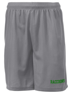 "Riverside Elementary School Raccoons Men's Mesh Shorts, 7-1/2"" Inseam"