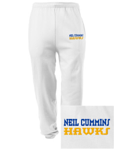 Neil Cummins Elementary School Hawks Embroidered Men's Sweatpants with Pockets