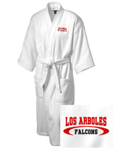 Los Arboles Middle School Falcons Embroidered Terry Velour Robe