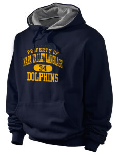 Napa Valley Language Center Dolphins Champion Men's Hooded Sweatshirt