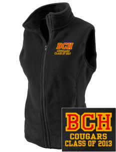 Brea Country Hills Elementary School Cougars Embroidered Women's Fleece Vest