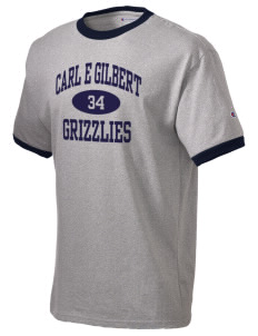 Carl E Gilbert Elementary School Grizzlies Champion Men's Ringer T-Shirt