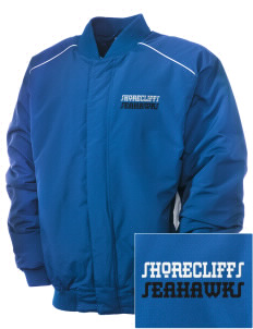 Shorecliffs Middle School Seahawks Embroidered Russell Men's Baseball Jacket