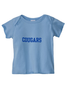 Roch Courreges Elementary School Cougars  Baby Lap Shoulder T-Shirt