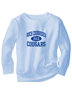 Roch Courreges Elementary School Cougars Toddler Crewneck Sweatshirt