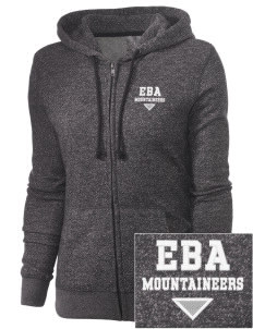 Ethan B Allen Elementary School Mountaineers Embroidered Women's Marled Full-Zip Hooded Sweatshirt